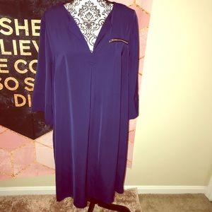 ELOQUII• midi zippered pocket dress